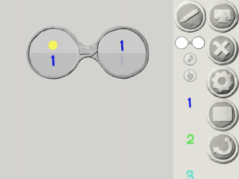 割れたメガネ(1)