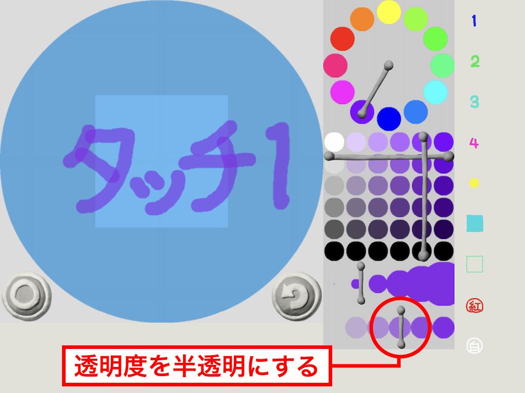 「タッチ1」を描く