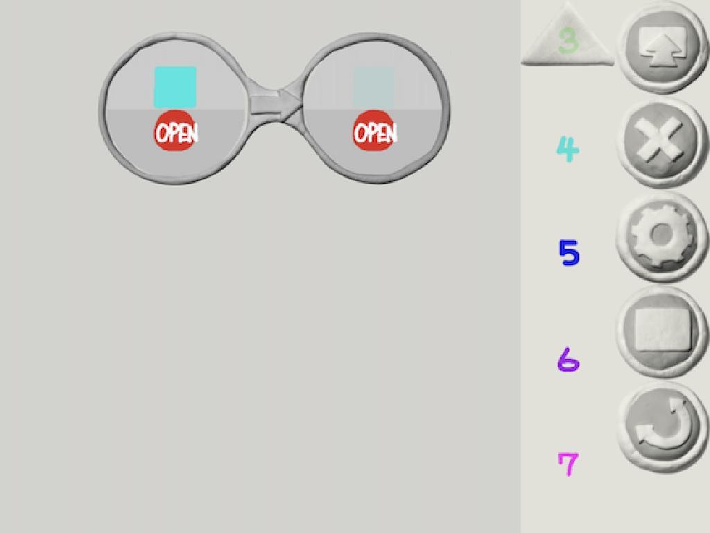 メガネが2つに割れる